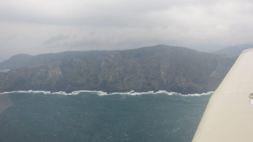 Hoge kliffen van Galicische kust