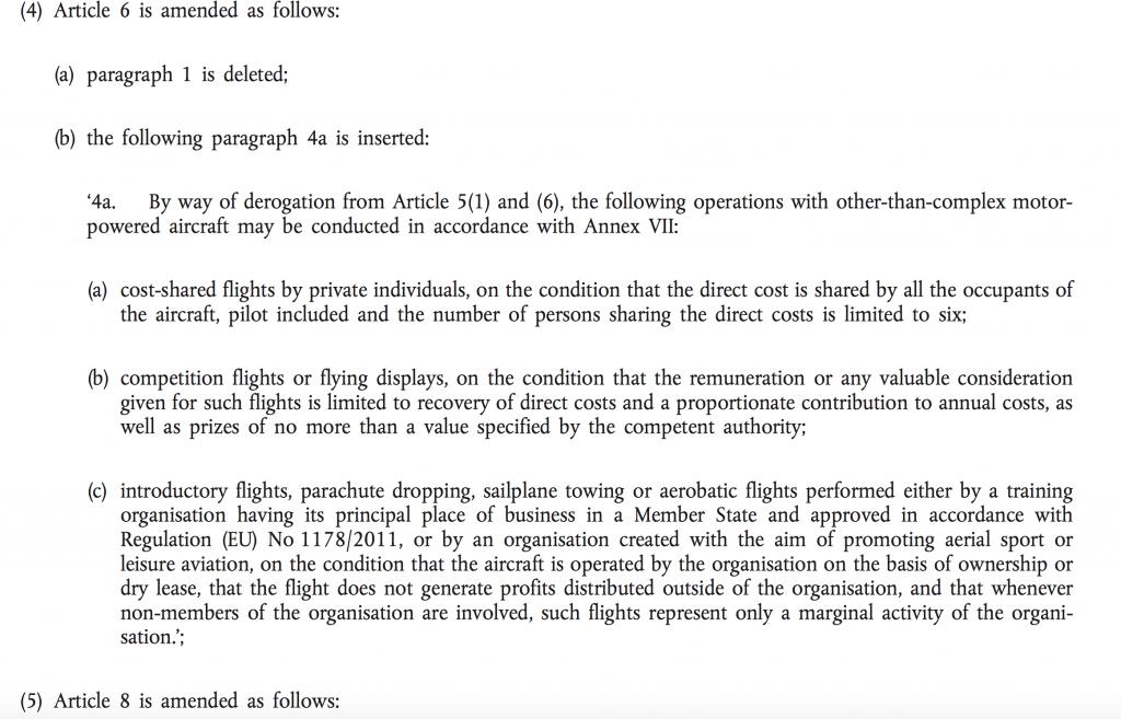 Artikel 6-4a nr 965/2012
